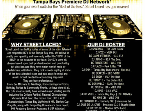 Street Laced DJ's Flyer