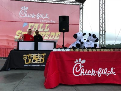 Street Laced DJ's at Chick-Fil-A event