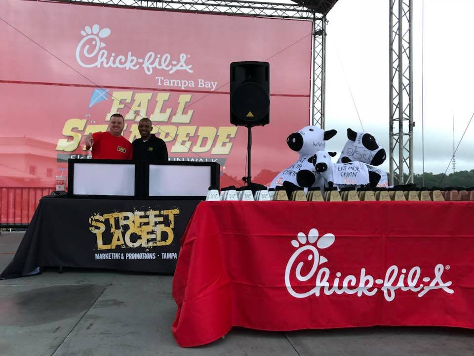 Street Laced DJ's at Chick-Fil-A event